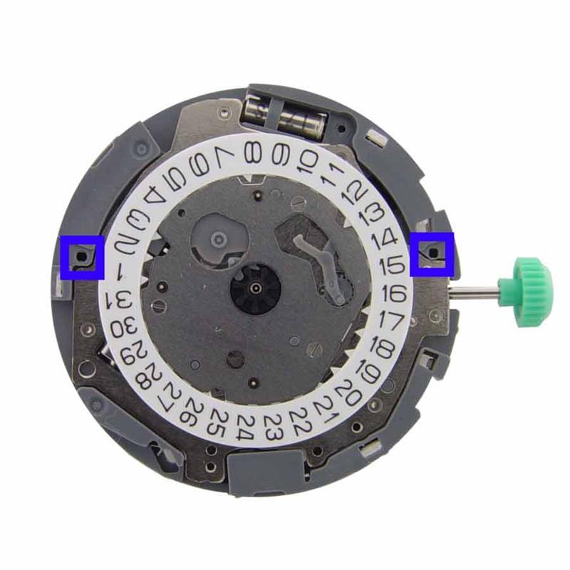 Размер стрелок: часовая 1.20, минутная 0.70, секундная 0.18 mm. толщина механизма 4.06